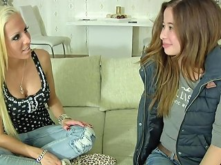 18yr Old Skinny German Teen In First Time Lesbian Casting