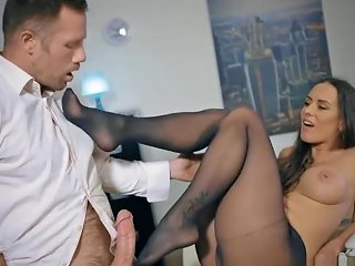 Pantyhose Office Bitch Footplay Ends In A Good Fuck Hdzog Free Xxx Hd High Quality Sex Tube