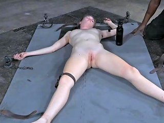 Sexy Ashley Lane Is Tied Up To The Floor And Tortured In Bdsm Ways