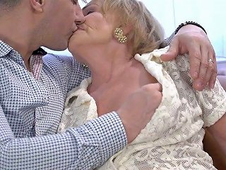 Wrinkled Ugly Old Slut Sally G Gets Her Mature Cunt Fucked Doggy