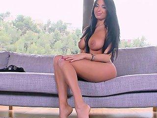 Beautiful Big Natural Tits In Sexy Fishnet Dress