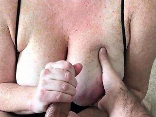 Handjob Onto Wife's Huge Freckled Tits Porn Fe Xhamster