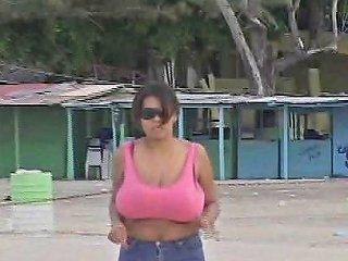 Busty Dominican Milf Jogging Free Big Tits Porn Video 14
