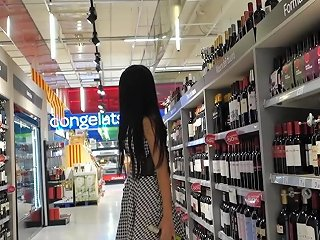 Fucks Cucumber And Squirting In Public Supermarket Littlesubgirl