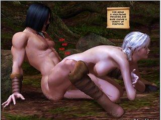 Tarzan Shares Sexy Jane With Several Horny Gorillas