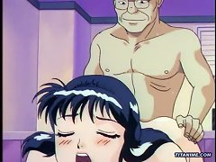 Busty Hentai Girl Sucking Dick And Getting Fucked In Bathroom