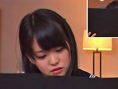 Teen Schoolgirl Kurumi Tachibana Focuses While Vibrated