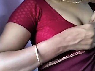 Hot Tamil Maid In Saree Strip Tease