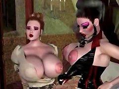 3d Big Titted Kinky Lesbians