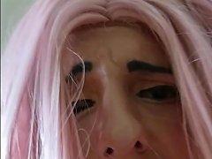 Pink Wig Sissy Slut Transvestite Fucked Hard And Humiliated