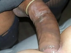 Massive Black Shemale Cock Pounds White Ass