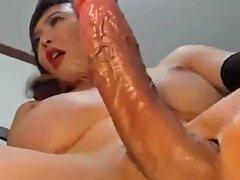 Pretty Blonde Shemale Wanks Her Huge Cock Txxx Com