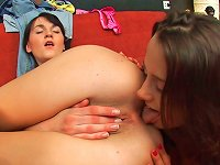 Free Sex Brunette Is Licking Her Sister's Pussy With Pleasure