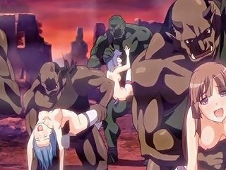 Anime Cutie Brutally Monsters Gangbang Fucked And Creampie