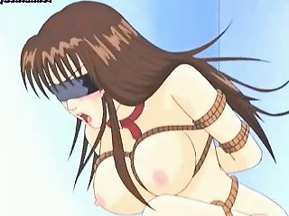 Tied Up Hentai Drilled With Toys